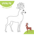 coloring page outline of cartoon cute christmas vector image vector image