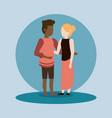 couple man and woman interracial vector image vector image