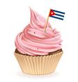Cuban Cupcake vector image vector image