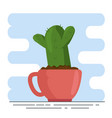 cute houseplant in pot vector image vector image