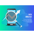data analysis concept design template vector image vector image