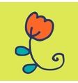 Doodle flower vector image vector image