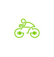 electric bike logo icon design vector image vector image