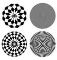 elements with checkered marble-like circular vector image