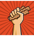 Fist Full of Bacon vector image vector image