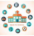 Flat education infographic background vector image vector image