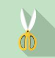 garden scissors icon flat style vector image vector image