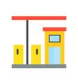 gas station petrol station filling station vector image vector image