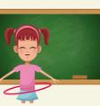 girl student chalkboard sport vector image vector image