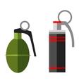 Grenade bomb explosion weapons vector image vector image