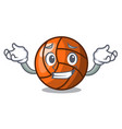 grinning volleyball character cartoon style vector image vector image