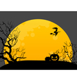 Halloween background with witch vector image