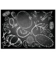 hand drawn of gourd and squash fruits vector image vector image