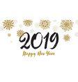 happy 2019 new year greeting card vector image vector image