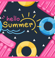 hello summer seamless pattern vector image