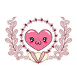love heart cartoon vector image vector image