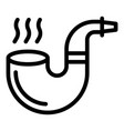 man smoking pipe icon outline style vector image vector image