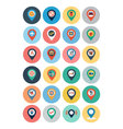 Maps and Navigation Flat Icons 3 vector image