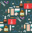 medical instruments doctor tools medicament vector image vector image
