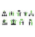 meeting icons vector image vector image