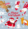 merry christmas square composition vector image vector image