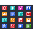 Mobile phone long shadow icons set vector image