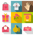 mothers day icon set flat style vector image vector image