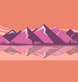 mountain landscape with mountain lake vector image vector image