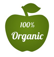 OrganicApple vector image vector image