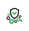 protection icon design shield with check vector image