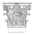 roman-corinthian capital favorite order was the vector image vector image
