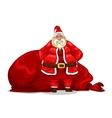 Santa Claus with bag vector image