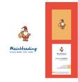 santa clause creative logo and business card vector image vector image