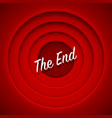 screen movie the end red background vector image vector image