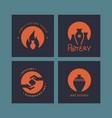 set logo layouts for art studio pottery vector image vector image
