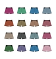 Set of colored shorts vector image vector image