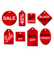 set sale labels and tags vector image