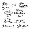 set valentine day lettering 2018 vector image
