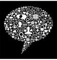 Social media talk bubble concept vector image vector image