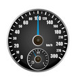 speedometer mockup realistic style vector image