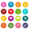 sport balls equipment icons set colorful circles vector image