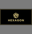 ss hexagon logo design inspiration vector image vector image