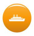 steamship icon orange vector image