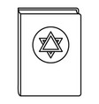 torah book icon outline style vector image vector image