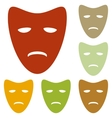 Tragedy theatrical masks vector image vector image