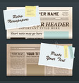 vintage newspaper banners vector image vector image