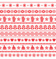 winter folk art seamless pattern christmas vector image