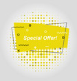 yellow flat speech bubble shaped banners vector image vector image
