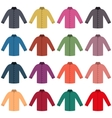 Set of colored shirts vector image
