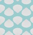 Seashell seamless pattern Scallop vector image